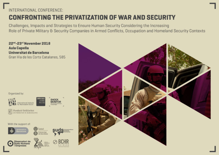 International Conference in Barcelona: Confronting the privatization of war and security