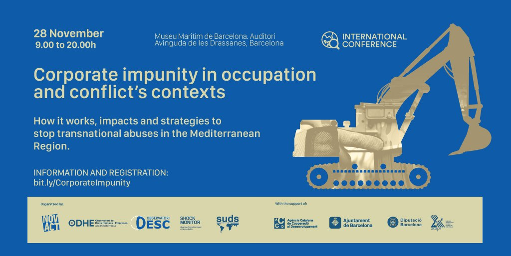 International Conference in Barcelona: CORPORATE IMPUNITY IN CONTEXTS OF OCCUPATION AND CONFLICT